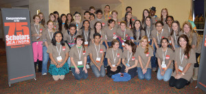 Scholarship recipients are recognized at the National High School Journalism Convention.